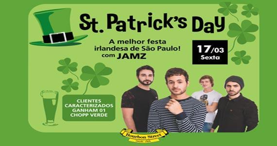 Os jovens músicos da JAMZ trazem o pop, jazz, soul, rock e r&b para o St Patricks do Bourbon Street Eventos BaresSP 570x300 imagem