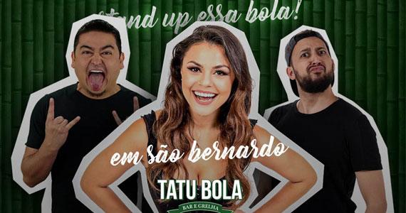 Tatu Bola tem noite de stand-up comedy com Bruna Loise Eventos BaresSP 570x300 imagem