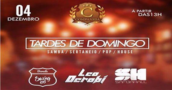 Tarde de domingo com Swing66, Leo Derobi e Samba Hall na Companhia da Cerveja BaresSP