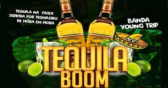 Noite da Tequila Boom com a banda Young Trip, Dj Dalkehmer e tequila na faixa de hora em hora no Enfarta Madalena BaresSP