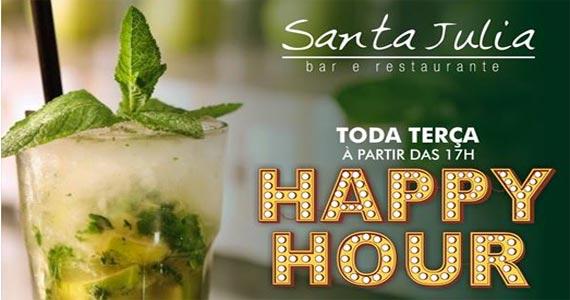 Eventos AgendaTERÇA também tem HAPPY HOUR com música ambiente no Bar Santa Julia BaresSP