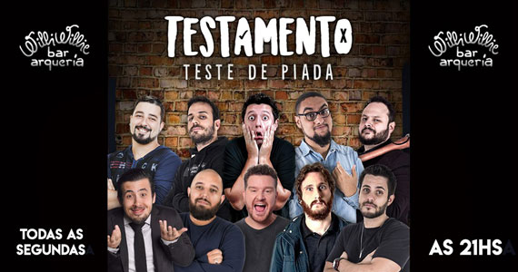 Testamento - Comédia Stand Up agita noite no Willi Willie