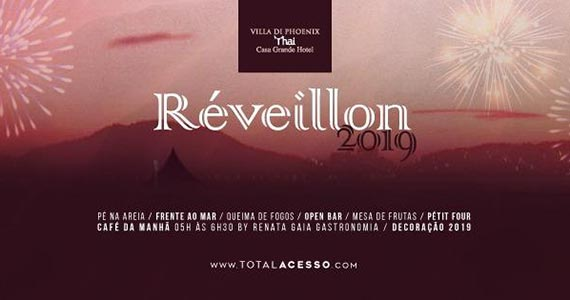 Festa de Réveillon 2019 com Open Bar e Line-up especial no Villa di Phoenix Thai Guarujá Eventos BaresSP 570x300 imagem