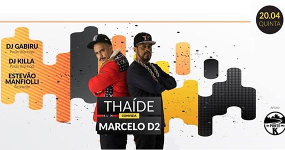 O rapper Thaíde convida Marcelo D2 para agitar à noite de quinta no Dunluce Irish Pub Eventos BaresSP 570x300 imagem