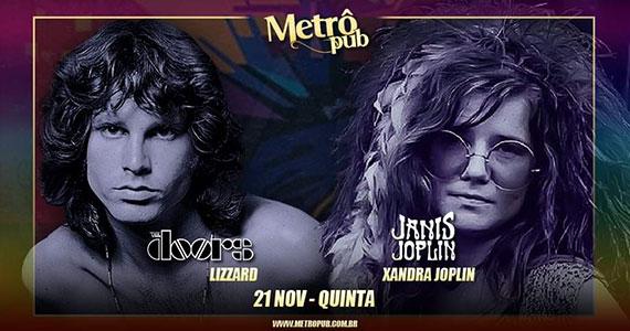 Banda Lizzard e Xandra Joplin agitam noite no Metrô Pub Eventos BaresSP 570x300 imagem