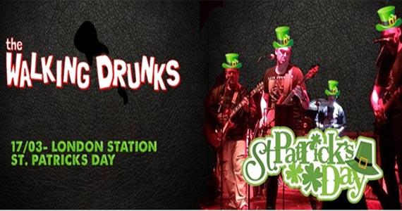 London Station recebe os agitos da banda The Walking Drunks trazendo um repertório de rock no St. Patricks do London Station Eventos BaresSP 570x300 imagem