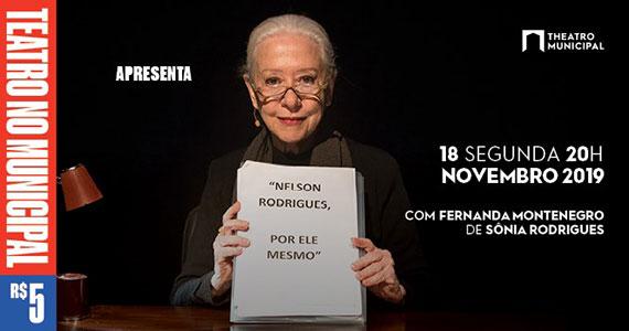 Fernanda Montenegro em Nelson Rodrigues por Ele Mesmo Eventos BaresSP 570x300 imagem