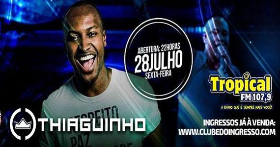 Thiaguinho apresenta sucessos do samba e do pagode no palco do Carioca Club Eventos BaresSP 570x300 imagem