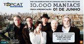 A banda de rock americano 10.000 Maniacs se apresenta no Espaço das Américas