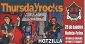 Banda Hotzilla comanda a noite com pop rock no palco do Republic Pub
