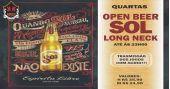 Transmissão do futebol com open bar de cerveja Sol no Republic Pub