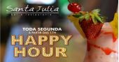 Toda segunda tem happy hour com petisco, chopp e música ambiente no Bar Santa Julia