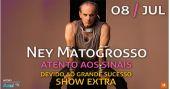 O cantor Ney Matogrosso volta ao Espaço das Américas para apresentar a turnê