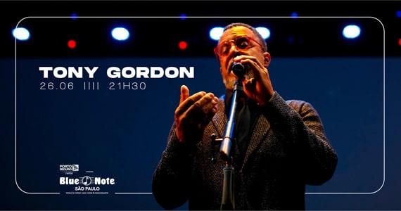 Blue Note receberá Tony Gordon em show de tirar o fôlego Eventos BaresSP 570x300 imagem