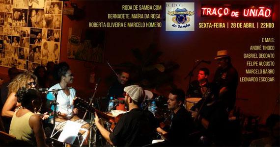Traço de União recebe a roda de samba com a sua madrinha Bernadete, Maíra Da Rosa, Roberta Oliveira e Marcelo Homero  Eventos BaresSP 570x300 imagem