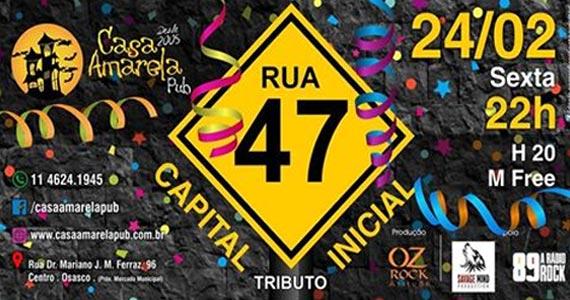 Muito rock com o Tributo ao Capital Inicial liderado pela Banda Rua 47 na Casa Amarela Pub Eventos BaresSP 570x300 imagem