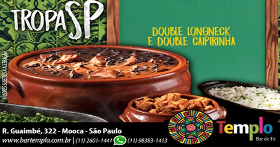 Feijoada com o samba do Tropa SP e o line up do Dj Tadeu no Templo Bar Eventos BaresSP 570x300 imagem