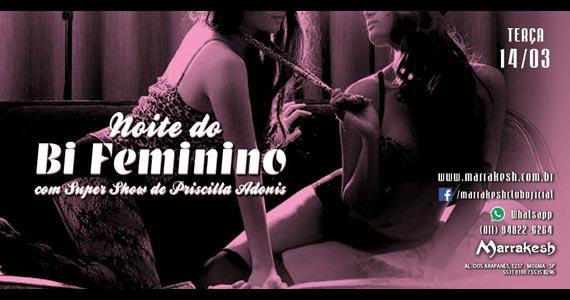 Noite do Bi Femino com show de Priscilla Adonis no Marrakesh Club Eventos BaresSP 570x300 imagem
