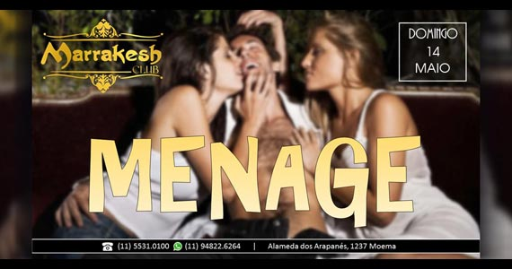 Noite do Ménage com muito swing no domingo do Marrakesh Club Eventos BaresSP 570x300 imagem