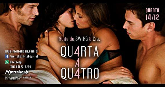Noite do Qu4rta a Qu4tro com muto swing no Marrakesh Club