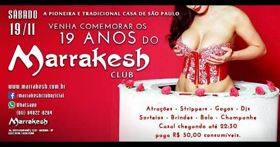 Marrakesh Club comemora 19 anos com sorteios, champagne e strippers no sábado Eventos BaresSP 570x300 imagem