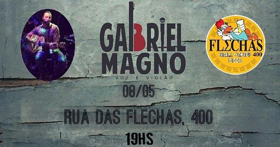 Cantor Gabriel Magno comanda a noite com muito MPB no Bar Flechas Eventos BaresSP 570x300 imagem