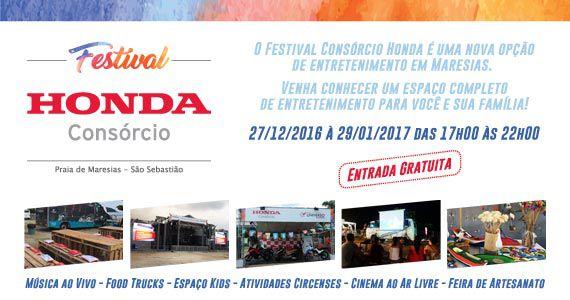 Festival Consórcio Honda reúne música ao vivo, artesanato, oficinas circenses, food trucks e cinema ao ar livre em Maresias Eventos BaresSP 570x300 imagem