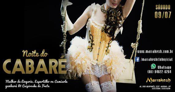 Noite do Cabaré anma o sábado com promoções no Marrakesh Club Eventos BaresSP 570x300 imagem
