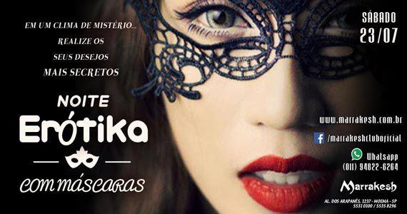 Noite Erótika com Máscaras para esquentar o sábado no Marrakesh Club Eventos BaresSP 570x300 imagem