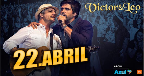 Victor e Leo apresentam a nova turnê 2017 no dia 22 de abril no Espaço das Américas Eventos BaresSP 570x300 imagem