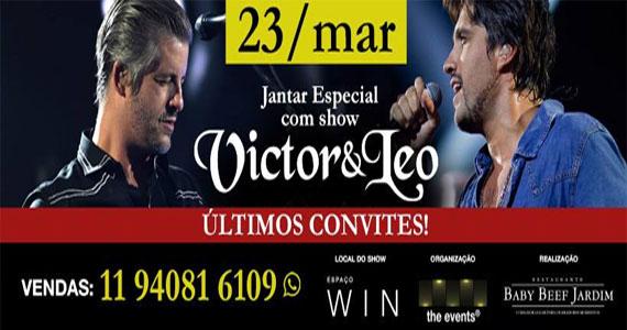Espaço Win preparou um jantar especial para o dia 23 de março com show da dupla Victor e Leo Eventos BaresSP 570x300 imagem