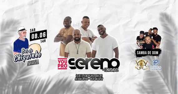 Bar do Chiquinho apresenta show de samba com grupo Vou Pro Sereno  Eventos BaresSP 570x300 imagem