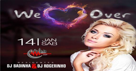 Os Djs Badinha e Rogerinho fervem a pista da Over Night com a We Love Over Eventos BaresSP 570x300 imagem