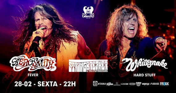 Noite de covers de Aerosmith, Whitesnake e StringBreaker and the StuffBreak