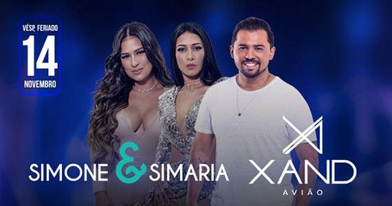 Xand Avião e Simone e Simaria se apresentam no Espaço das Américas Eventos BaresSP 570x300 imagem