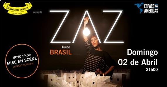 """Zaz volta a São Paulo dia 2 de março e apresenta o show """"Mise en Scéne"""" no Espaço das Américas Eventos BaresSP 570x300 imagem"""