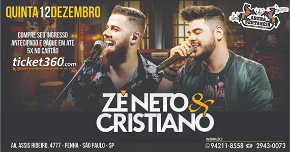 Zé Neto & Cristiano marcam presença com show na Arena Sertaneja Eventos BaresSP 570x300 imagem