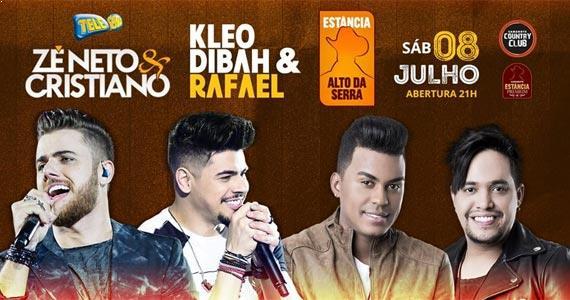 Zé Neto & Cristiano e Kleo Dibah & Rafael cantam os seus sucessos no Estância Alto da Serra Eventos BaresSP 570x300 imagem
