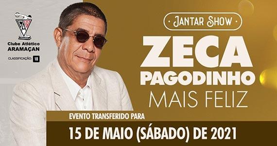 Zeca Pagodinho realiza jantar show no Clube Atlético Aramaçan Eventos BaresSP 570x300 imagem