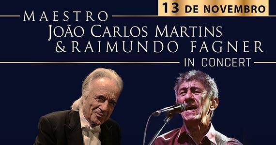 Maestro João Carlos Martins e Raimundo Fagner sobem no palco do Espaço das Américas Eventos BaresSP 570x300 imagem