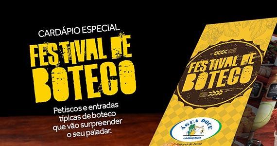 Água Doce promove Festival de Boteco em todos seus restaurantes Eventos BaresSP 570x300 imagem