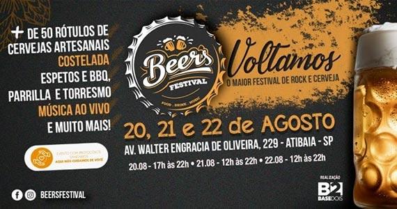 Atibaia Plaza Hotel recebe evento cervejeiro e gastronômico Beer's Festival Eventos BaresSP 570x300 imagem
