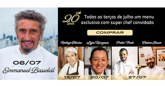 Chalezinho completa 20 anos e convida chefs renomados para celebrar a data Eventos BaresSP 570x300 imagem
