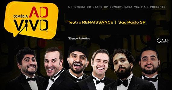 Teatro Renaissance exibe show de stand up Comédia Ao Vivo Eventos BaresSP 570x300 imagem