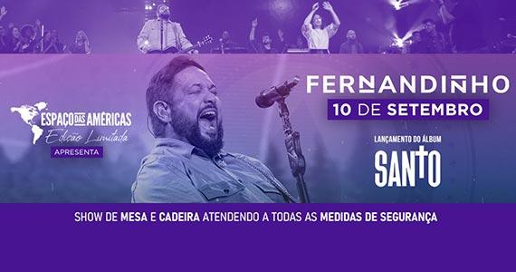 Cantor Fernandinho realiza show único no Espaço das Américas Eventos BaresSP 570x300 imagem