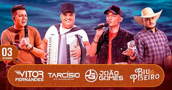 Centro de Tradições Nordestinas apresenta Festival do Piseiro com João Gomes, Tarcisio do Acordeon e mais Eventos BaresSP 570x300 imagem