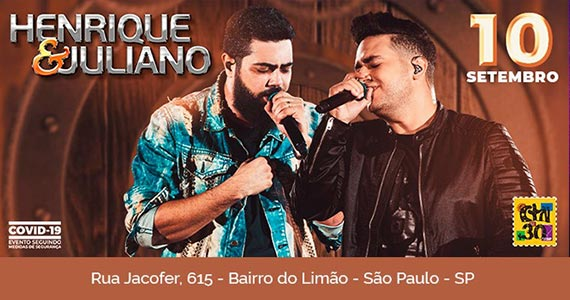 Henrique e Juliano apresentam seus sucessos no palco do CTN Eventos BaresSP 570x300 imagem