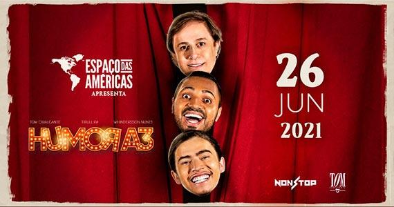 Humor A3 com Tom Cavalcante, Tirullipa e Whindersson Nunes Eventos BaresSP 570x300 imagem