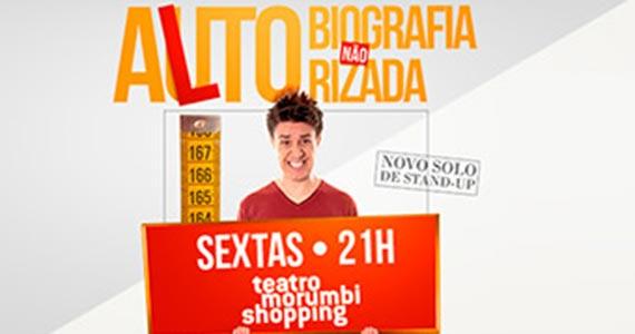 """Oscar Filho apresenta stand-up """"Alto-Biografia não Autorizada"""" no Teatro Morumbi Shopping Eventos BaresSP 570x300 imagem"""