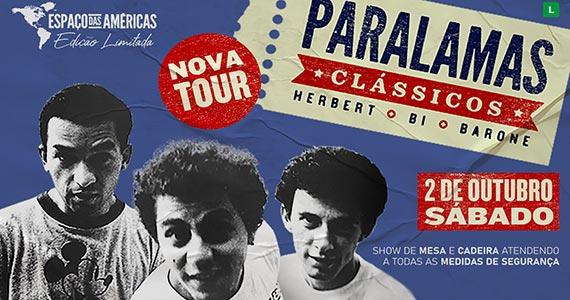 Os Paralamas do Sucesso apresenta show Paralamas Clássicos no Espaço das Américas Eventos BaresSP 570x300 imagem